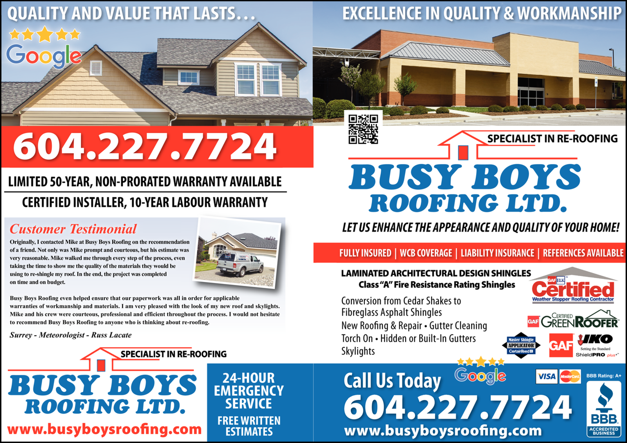 Print Ad of Busy Boys Roofing Ltd