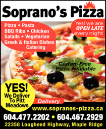 Yellow Pages Ad of Soprano's Pizza