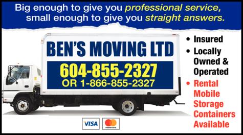 Print Ad of Ben's Moving Ltd