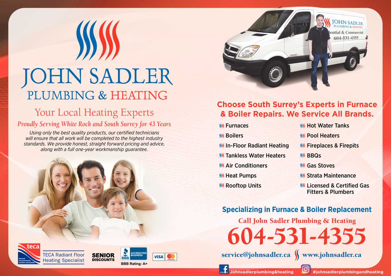 Print Ad of John Sadler Plumbing & Heating