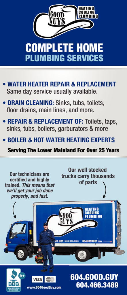 Print Ad of Good Guys Heating Cooling & Plumbing Ltd