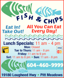 Yellow Pages Ad of Austin House Fish & Chips
