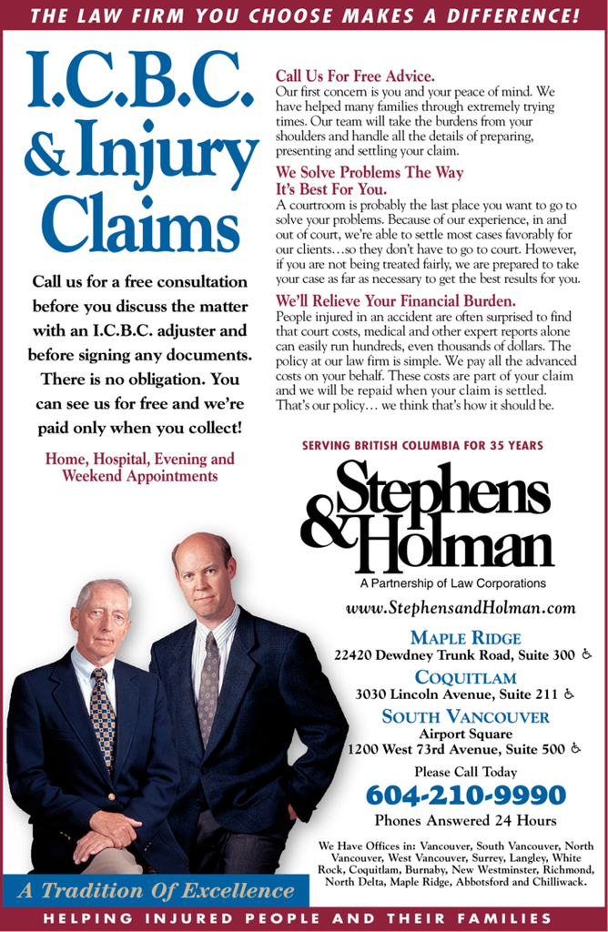 Yellow Pages Ad of Stephens & Holman